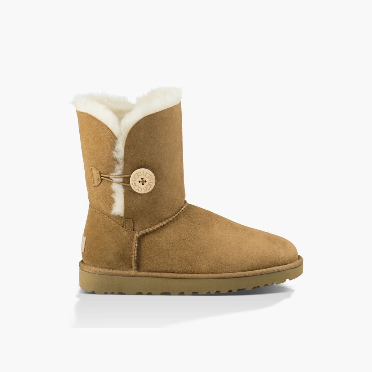 Womens UGG Bailey Button II Boot Brown Boots, 984BQJKE