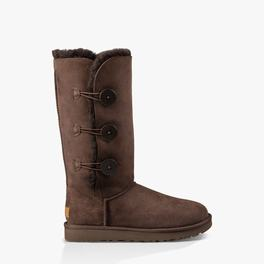 Womens UGG Bailey Button Triplet II Boot Chocolate Boots, 509HPWRA